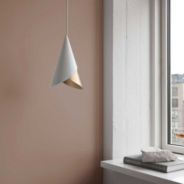 Lámpara Cornet blanca