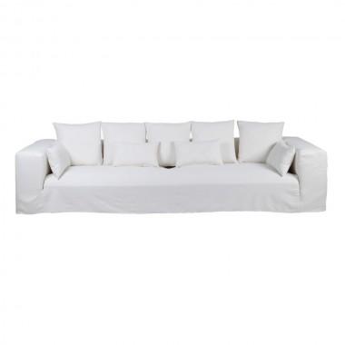 Sofa Ibiza lino blanco 330cm