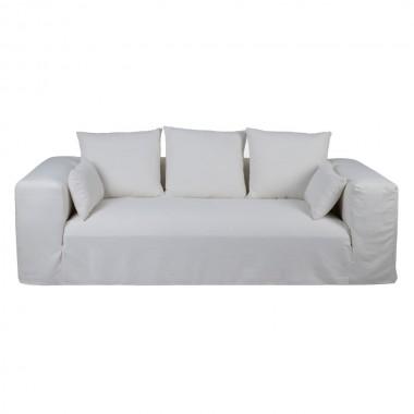 Sofa Ibiza lino blanco 245cm