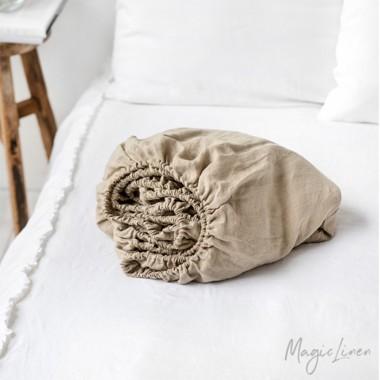Sabana bajera cojín lino lavado natural
