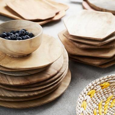 Set de 3 platos madera Sama