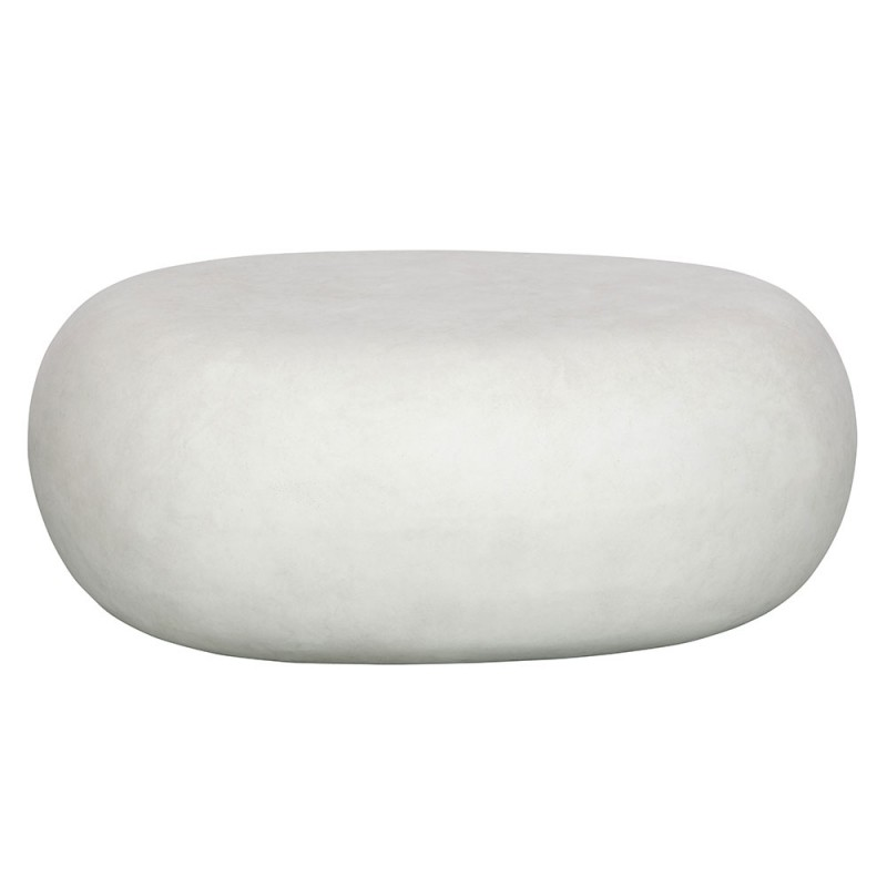 mesa centro imitación hormigón blanco