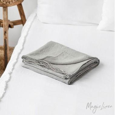 Sabana lino lavado gris claro