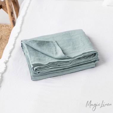 Sabana lino lavado azul claro