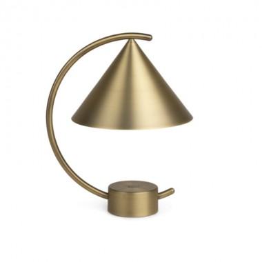 Lámpara sobremesa Meridian, latón