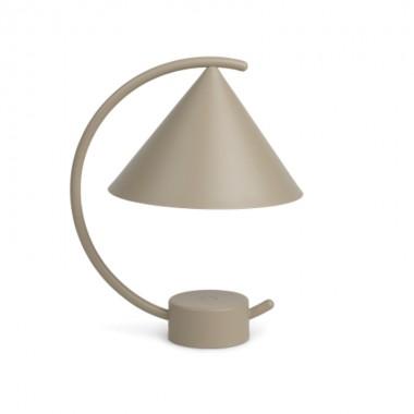 Lámpara sobremesa Meridian, cashmere