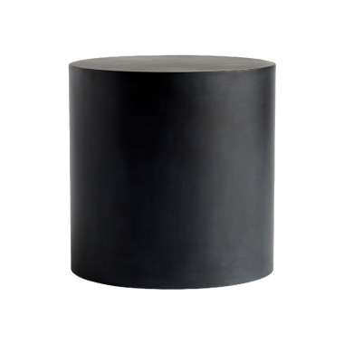 Mesa auxiliar Borg Ø40cm, grafito
