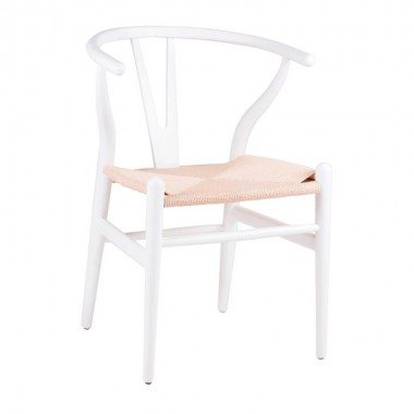 Silla Wishbone, blanco