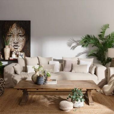 Sofa Ibiza lino sand 330cm