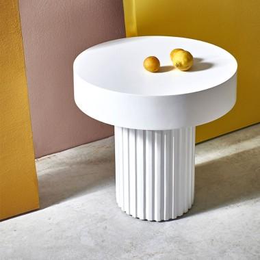 Mesa de centro Pillar, blanco