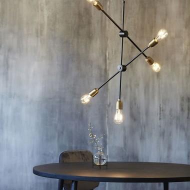 Lámpara de techo Molecular, latón