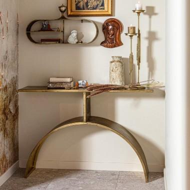 Consola Altar, bronce envejecido