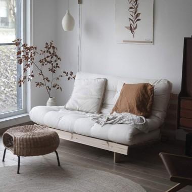 Sofá cama Roots 140cm, natural