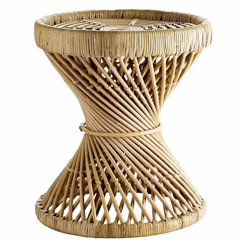 Taburete/Mesa Round, ratán