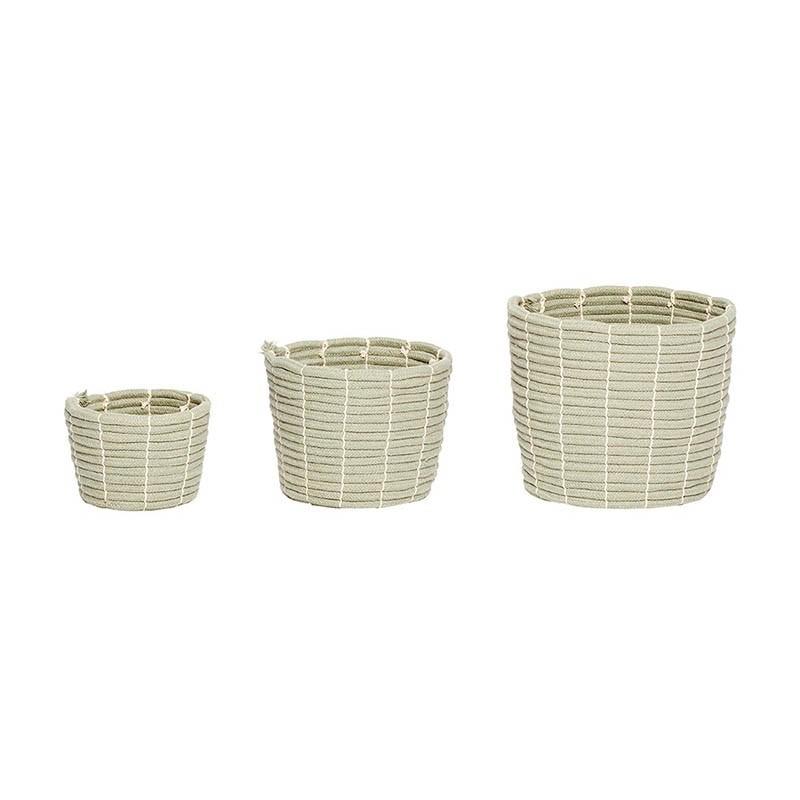 Set cestas Sharp round, green