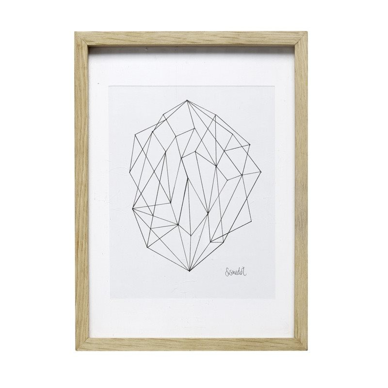 Marco madera Geometric