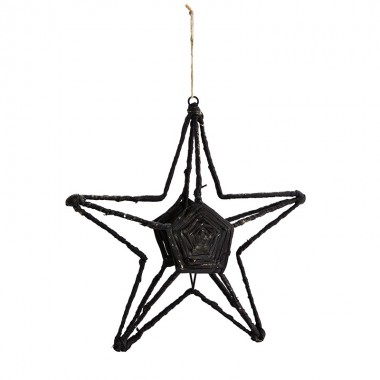 Estrella colgante, negro
