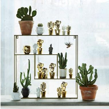 Figura cactus flor S Gold