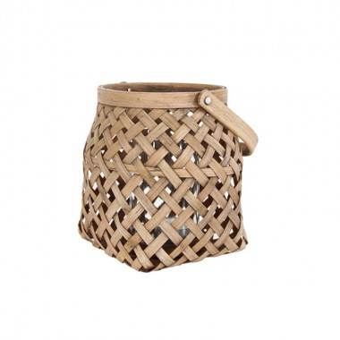 Portavelas Bambú