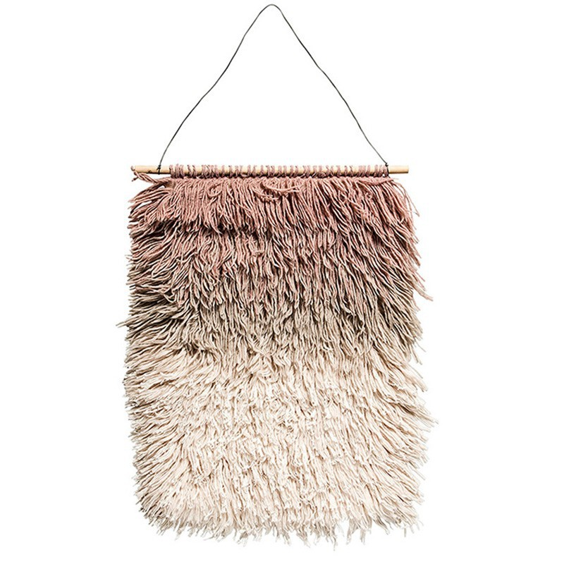 Adorno de pared Wool, rosa