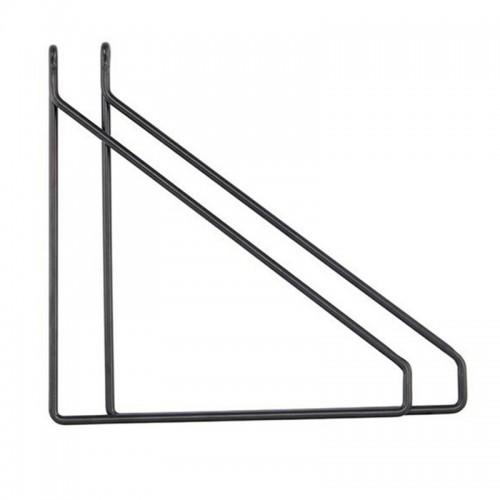 Set soportes estantes, Apart negro