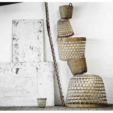 Pantalla / Cesta de bambú, Stella M