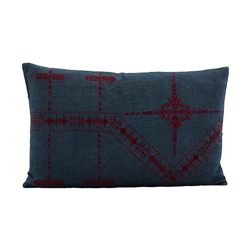 Funda cojín Inka, azul