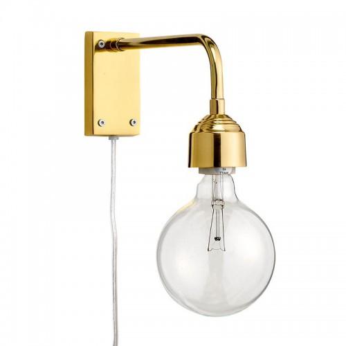 Aplique Bulb dorada