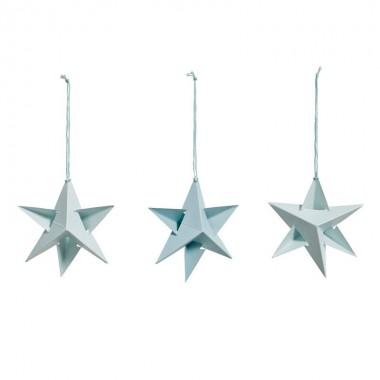 Set de 3 Paper stars turquesa