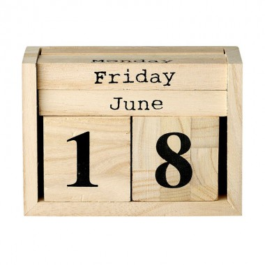 Calendario Wood Box