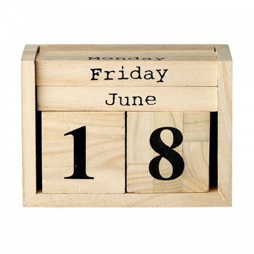 Calendario, Wood Box