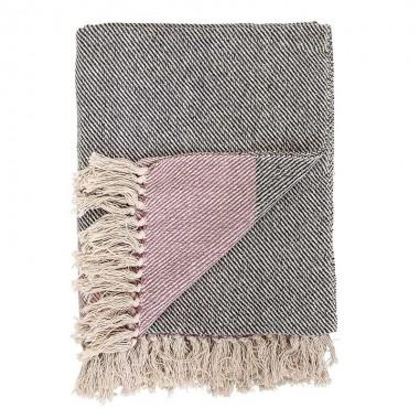 Plaid Finn, gris y rosa