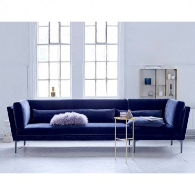 Sofá Rox, azul velvet