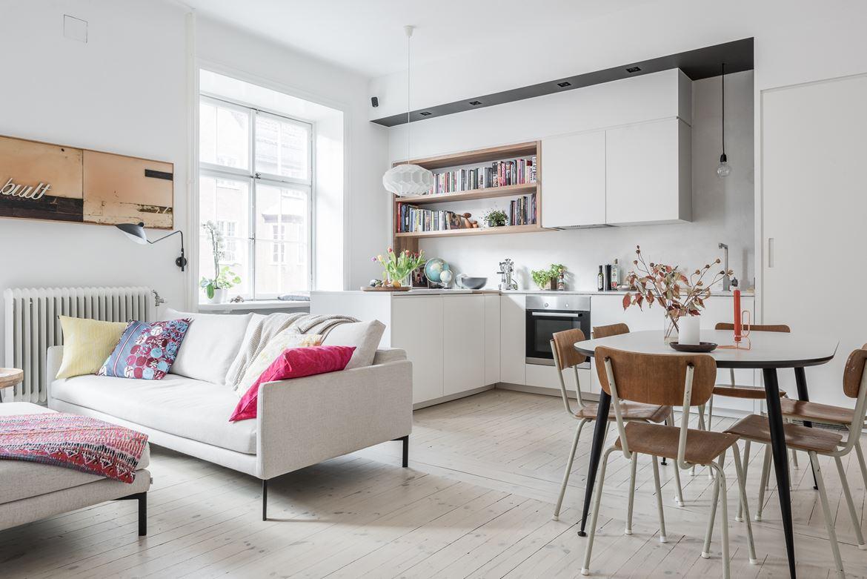 Una vivienda minimalista con decoraci n vintage for Departamentos decorados estilo vintage