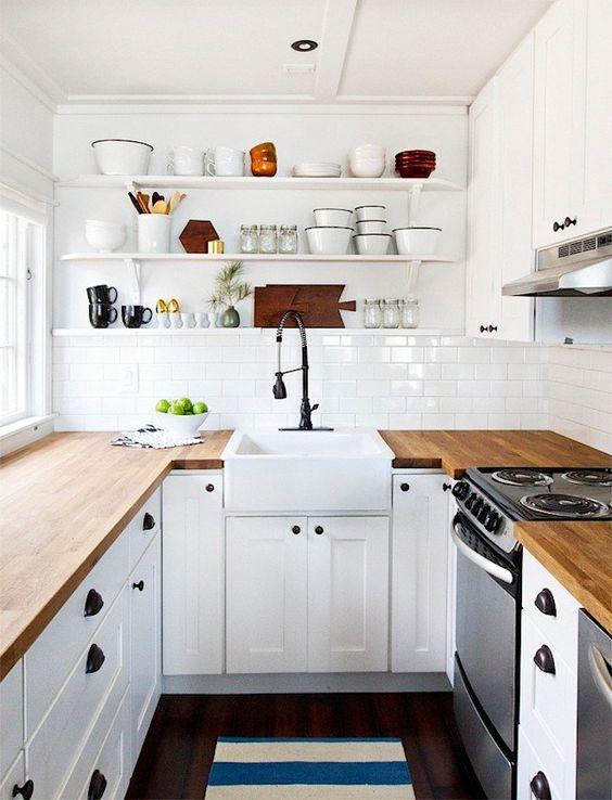 Consejos Para Sobrevivir A Una Cocina Pequena - Cocinas-pequeas-en-forma-de-u