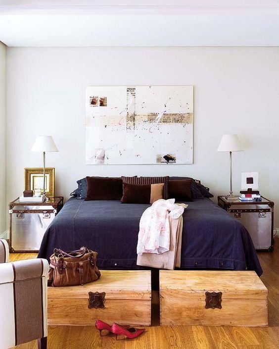 Ideas para decorar los pies de la cama - Baules para dormitorios ...