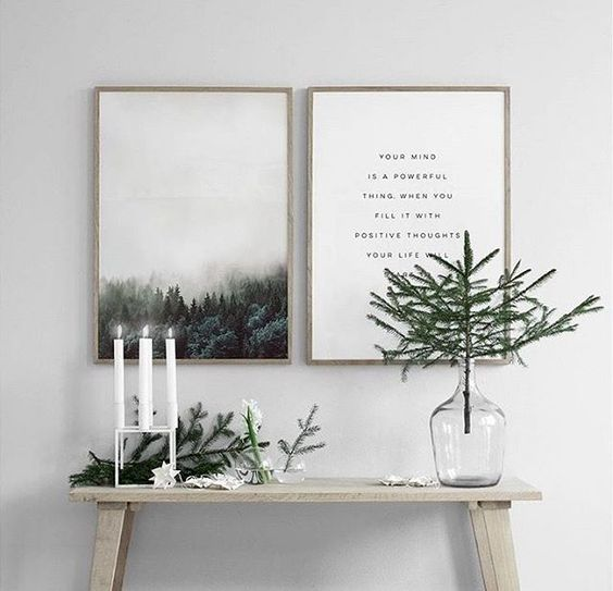 Menos es m s decoraci n navide a minimal y serena para tu for Decoracion navidena minimalista